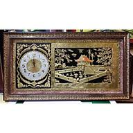 Đồng hồ tranh đồng vàng liền tấm- CHÙA MỘT CỘT-A138 thumbnail
