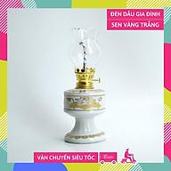 Đèn dầu thờ cúng truyền thống chân cao vàng cung đình - Cao 18cm thumbnail