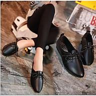 Giày Oxford nữ đế bằng da mềm buộc dây đơn giản-OD2 thumbnail