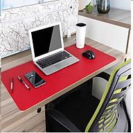 Miếng lót chuột, tấm di chuột 90 X 45 CM kiêm deskpad thảm da trải bàn làm việc 2 mặt, 2 màu thumbnail