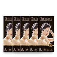 COMBO 5 hộp Thuốc nhuộm tóc phủ bạc thảo dược Richenna EZ Speedy Hair Color Perfume dạng dầu gội hương nước hoa 60G thumbnail