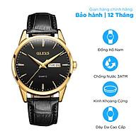 Đồng hồ nam OLEVS dây da kim dạ quang OL6898 - Chống nước chống xước cao cấp thumbnail
