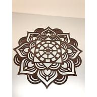 Tấm trang trí ốp lưng bàn thờ treo , mẫu hoa sen nâu BH613 thumbnail
