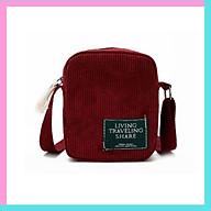 Túi tote canvas đeo chéo giá rẻ trơn vải mềm đi học TX59 thumbnail