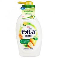 Biore U Body Wash Liquid Soap Pump Bottle - Fresh Citrus Scented 480Ml Japan thumbnail