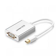 Mini Dp To Vga Converter Đầu Chuyển Đổi Aluminum With Audio Md107 - 10437 Ugreen - Hàng Chính Hãng thumbnail