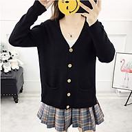 Áo khoác cardigan len nữ ArcticHunter, kiểu dáng áo khoác nhẹ phối 2 túi trước, thời trang phong cách trẻ thumbnail