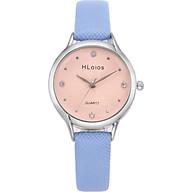 Đồng hồ thời trang nữ Hloios dây Da PKHRHLO001 - tím nhạt thumbnail
