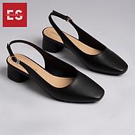 Giày nư , gia y cao gót slingback Erosska mũi vuông kiểu dáng basic gót vuông vững chắc cao 5cm - EL013 thumbnail