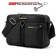 Cặp đeo chéo công sở vải bố túi hộp AOTIAN F95 Tặng móc khóa hình búa thumbnail