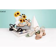 Gia y sandal cao go t HT.NEO thời trang mu i tro n phô i dây nhiê u ma u tinh tê cao 3cm TH8707 thumbnail