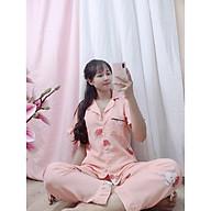 Bộ Đồ Ngủ, Đồ Bộ Pijama Lụa Nữ Mặc Nhà Bộ Ngủ Lụa Hàn Bèo Tay Ngắn Quần Dài Chất Liệu Lụa Hàn Cao Cấp thumbnail