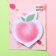 Giấy note 100 tờ hình đào và bơ nhỏ gọn tiện lợi họa tiết ngộ nghĩnh cho mọi lứa tuổi H043 thumbnail