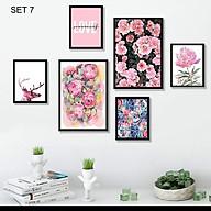 Tranh Canvas treo tường phòng khách, phòng ăn - Bộ 06 tranh hiện đại tặng kèm khung và đinh treo tường PVP-TP188 thumbnail