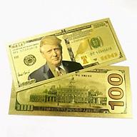 Tờ lưu niệm 100 USD hình Tổng Thống Trump bằng plastic mạ màu vàng, sưu tầm độc lạ, quà tặng bạn bè người thân thú vị - TMT Collection - SP005230 thumbnail