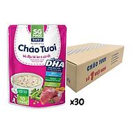 Thùng cháo tươi Baby Sài Gòn Food bò & đậu hà lan 240g x 30 gói thumbnail