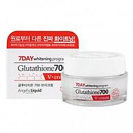 Kem Dưỡng Trắng Da, Giảm Thâm Nám Angel s Liquid 7 Day Glutathione 700 V-Cream 50ml [ Được Mask 3W Clinic ] thumbnail