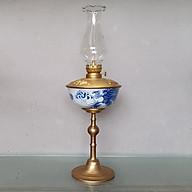 Đèn thờ dầu men lam vẽ Rồng Phượng gốm sứ Bát Tràng (đèn dầu, đèn thờ cúng) thumbnail