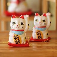 Mèo thần tài Nhật Bản Maneki neko Chiêu Tài 164165 - 10cm (1 con) thumbnail