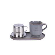 Bộ pha cafe Vintage 3 món (phin cafe, cốc và đĩa sứ 24cm) Sa Maison thumbnail