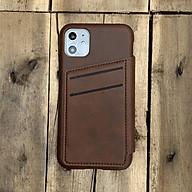 Bao da kiêm ví dành cho iPhone 11 - Màu nâu thumbnail