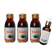 Combo 3 chai Siro Tỏi đen KIMO + 1 chai tinh dầu tỏi KIMO thumbnail