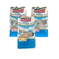 Com bo 2 Tã dán Goo.n Premium NB42 miếng (newborn-5kg) - Tặng 1 bịch Tã dán Goo.n Premium S36 miếng thumbnail
