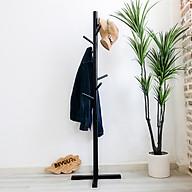 Cây Treo Quần Áo Gỗ Standing Hanger Nội Thất Kiểu Hàn BEYOURs - Đen thumbnail