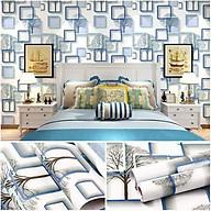 10m Giấy dán tường ô vuông trắng C0026A thumbnail