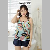 FEMEI - Set bộ áo 2 dây quần short GAVY FEM015 thumbnail