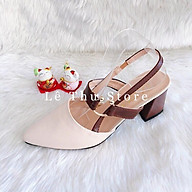 Giày cao gót 6 phân bít mũi khóa C hở gót LT (BM011) thumbnail