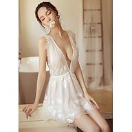 Đầm ngủ thuê hoa siêu sexy - N491 thumbnail