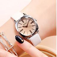 Đồng hồ nữ Julius Hàn Quốc JA-388 dây da nhỏ xinh (Trắng Bạc ) thumbnail