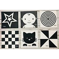 Bộ 6 thẻ dán tường đen trắng kích thích thị giác cho bé thumbnail