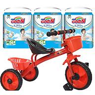 Combo 3 gói tã quần Goo.n Premium M56 L46 XL42 XXL36 XXXL26 tặng xe đạp 3 bánh cho bé (ngẫu nhiên) thumbnail