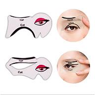 Sét 2 khuôn dụng cụ kẻ vẽ mắt mèo tiện lợi KM02 thumbnail