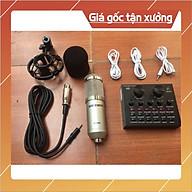 bộ livestream THU ÂM SOUND CARD V8 mic BM900 bluetooth có AUTOTUNE thumbnail