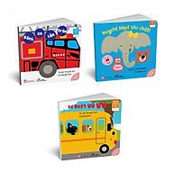 Bộ 03 cuốn sách Ehon Nhật Bản Những mảng màu đẹp Huỵch Bộp Ghì chặt + Xe buýt vù vù + Bánh xe lăn tròn thumbnail