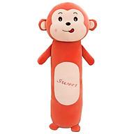 Gối ôm khỉ dài 60cm vải nhung mịn thumbnail