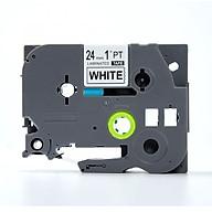 Nhãn in TZ2-251 chữ đen trên nên trắng (Black on white)_24mm dùng cho máy in nhãn thumbnail