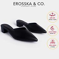 Erosska - Giày sục cao gót bít mũi kiểu dáng Hàn Quốc cao 3cm EM076 thumbnail