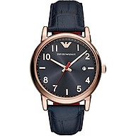 Emporio Armani Classic 3 Hand Stainless Steel Watch with Quartz Movement and Date thumbnail