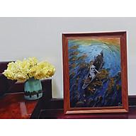 Tranh sơn dầu họa sỹ sáng tác vẽ tay HOA ĐĂNG (1) thumbnail
