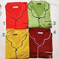 Bộ phi lụa, bộ ngủ Pijama chất lụa Thái chuẩn (form 40-65kg) thumbnail