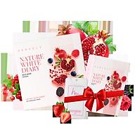 Viên Uống Hỗ Trợ Trắng Da Cải Thiện Nám Hanvely Nature White Diary Hộp 30 viên + Hộp 10 viên + Nước hoa cô bé H.A.N thumbnail
