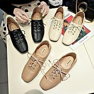 Giày Nữ mọi kiểu OXFORD mũi vuông gót cao 2 phân MBS462 - MERY SHOES thumbnail