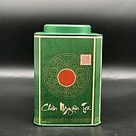 Hộp vuông đựng trà bằng thép màu xanh thumbnail