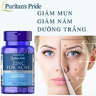 Viên uống ngăn ngừa mụn, giảm nám, tàn nhang, sạm da Zinc For Acne - Puritan s Pride thumbnail