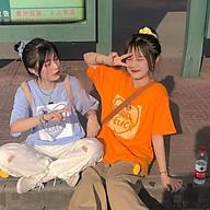 Áo thun nữ tay lỡ SAM CLO freesize phông form rộng dáng Unisex, mặc lớp, nhóm, couple hình TRÁI TIM chữ GOOD LUCK thumbnail