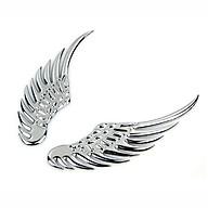 Logo Cánh Chim Ưng 3D Dán Cho Các Loại Xe Ô Tô Màu Bạc thumbnail